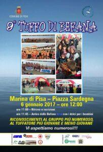 AVIS e ADMO Pisa al 9° Tuffo di Befana a Marina di Pisa – P.zza Sardegna