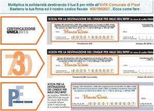 Moltiplica la solidarietà… Dona il tuo 5×1000 ad AVIS Comunale di Pisa!