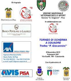 """Torneo di Scherma a Squadre Under 12 – Trofeo """"F. Giovannini"""""""