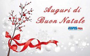 Chiusure segreteria AVIS Pisa nel periodo natalizio