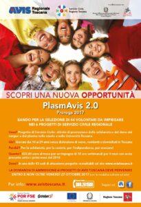 """Aperto il bando di servizio civile regionale """"PlasmAvis 2.0"""" – Domande entro il 27/10"""