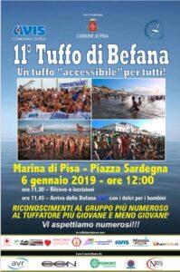 11° Tuffo di Befana a Marina di Pisa – P.zza Sardegna