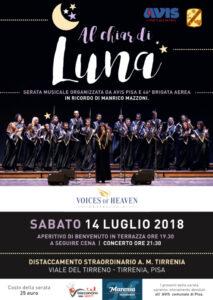 AL CHIAR DI LUNA – Serata in ricordo di Manrico Mazzoni – 14/07/2018
